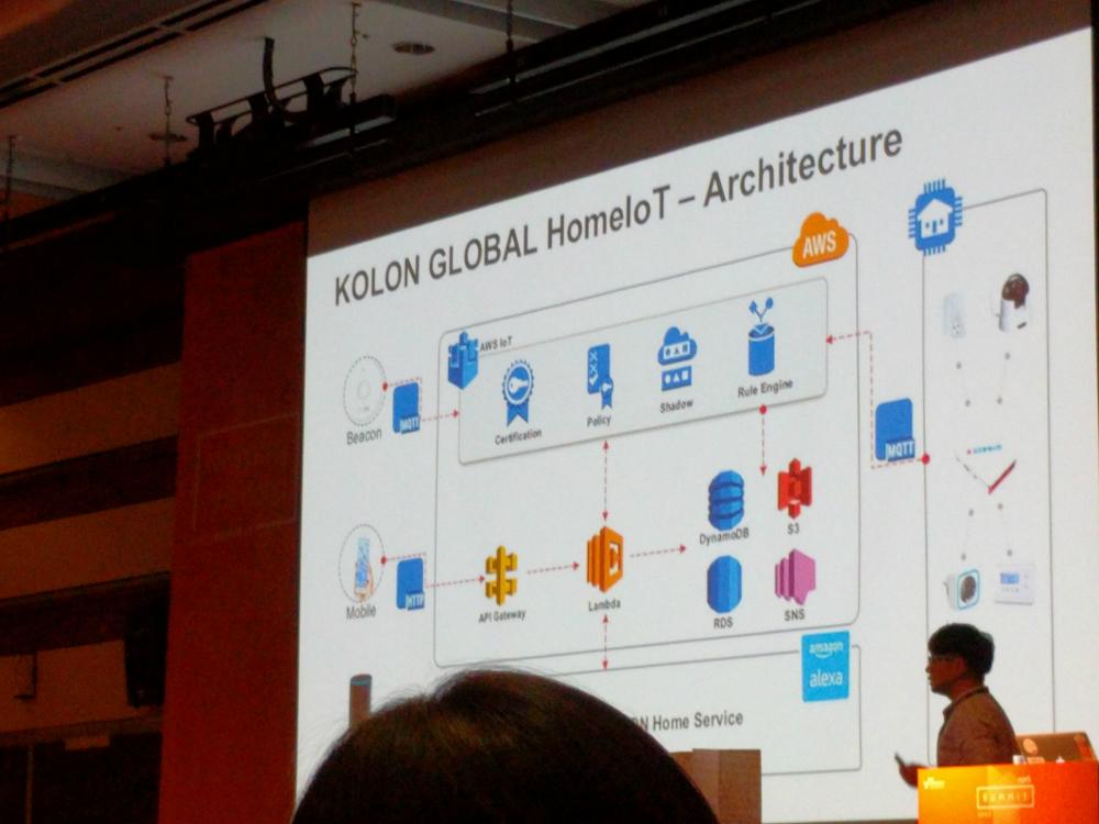 [ 최근 화두로 불리우는 AWS IoT에 대한 슬라이드. ]